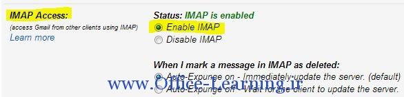 Forwarding and POP IMAP جی میل