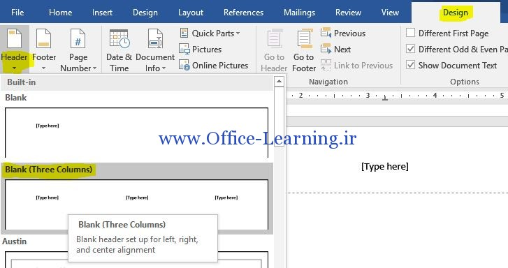 word Header-Footer Odd Even Pages