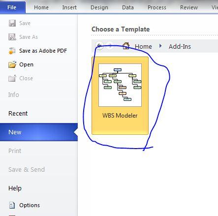 ساختار شکست کار به کمک ویزیو 2013