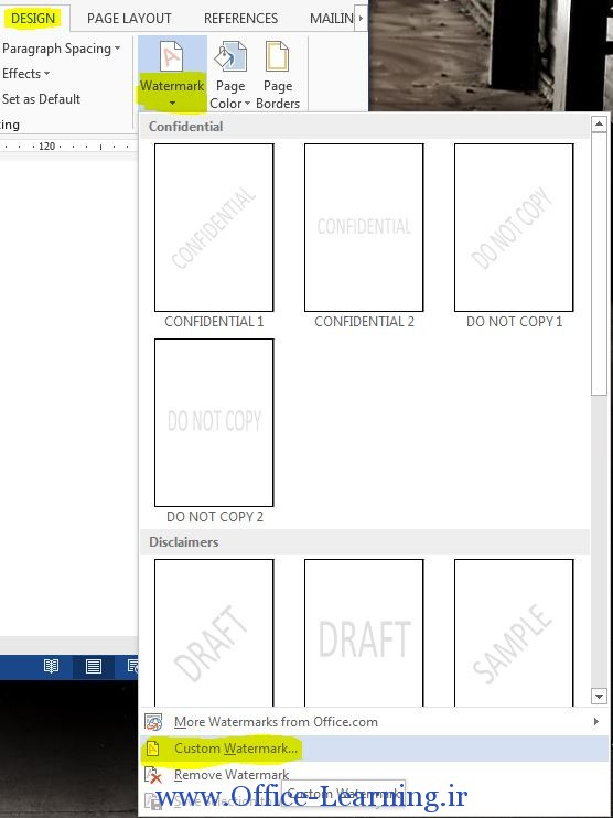 watermark to your document