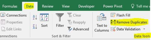 Remove Duplicates حذف کلمات تکراری در اکسل حذف ردیفهای تکراری در اکسل
