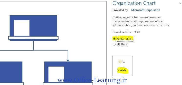 organization chart visio ویزیو 2013