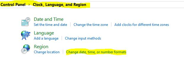 1-Change Date Time or Number Format-تاریخ شمسی ویندوز