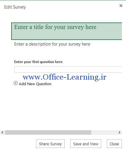 آموزش ایجاد فرم نظر سنجی در اکسل