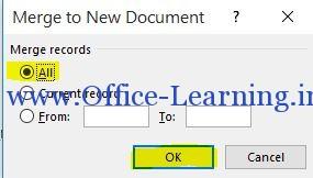ذخیره نامه ها در یک فایل ورد