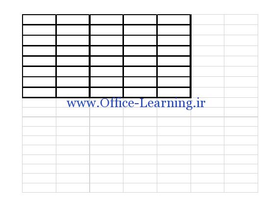 جدول excel در ورد