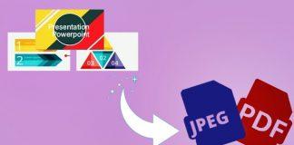 تبدیل پرزنتیشن پاورپوینت به پی دی اف-PowerPoint to PDF JPEG