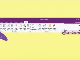 سفارشی سازی نوار ابزار و منو های وان نوت-OneNote Customize Ribbon